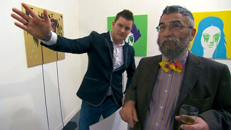 """And this painting will just set off your bow-tie perfectly, sir."" (image courtesy of bbc.co.uk)"