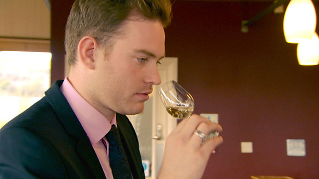 Tom perhaps enjoyed this task a little too much - but still emerged victorious (image courtesy of bbc.co.uk)