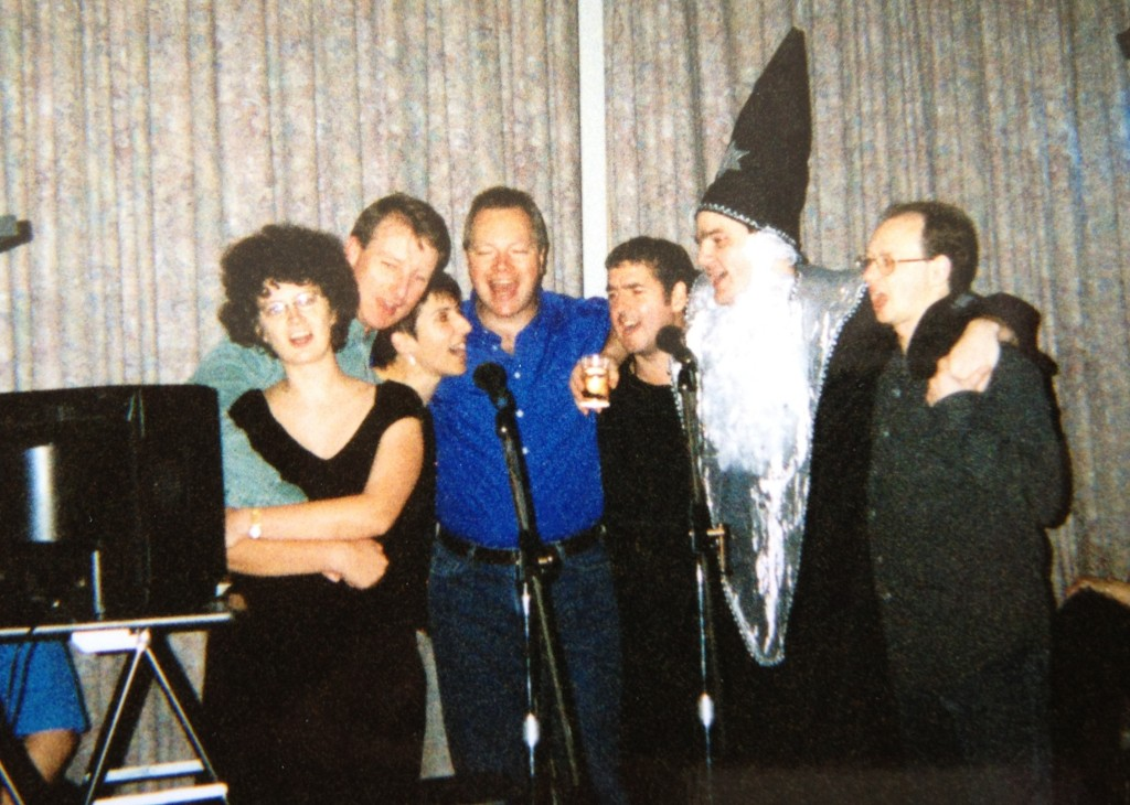 Before there was X Factor, there was Karaoke Night (John, far right)