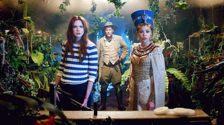 Amy finds the TARDIS is a little more crowded than usual (image courtesy of bbc.co.uk)