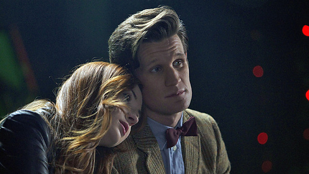 The Doctor and Amy share a moment. The calm before the (oncoming) storm? (image courtesy of bbc.co.uk)