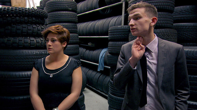Ashleigh and Steven are left feeling a kittle 'tyred' (image courtesy of bbc.,co.uk)