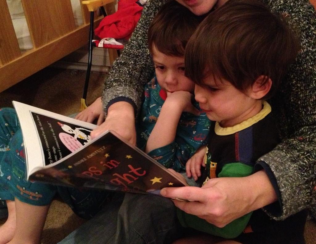 Isaac Toby reading