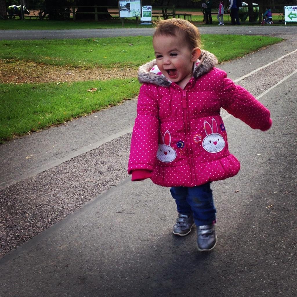 Kara running Marwell Zoo