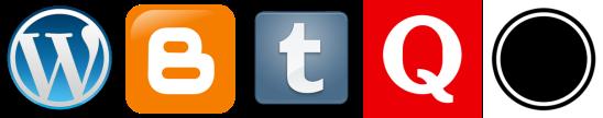Blogging platform logos