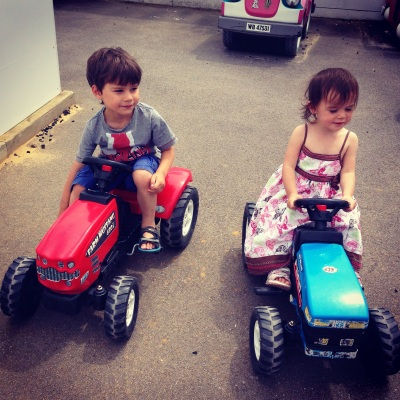 Toby Kara tractor twins