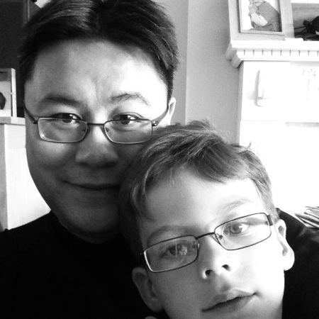 Daddy and Isaac B&W