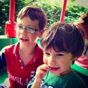 Isaac Toby Legoland train