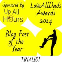 LoveAllDads Awards 2014 Blog Post of the Year logo