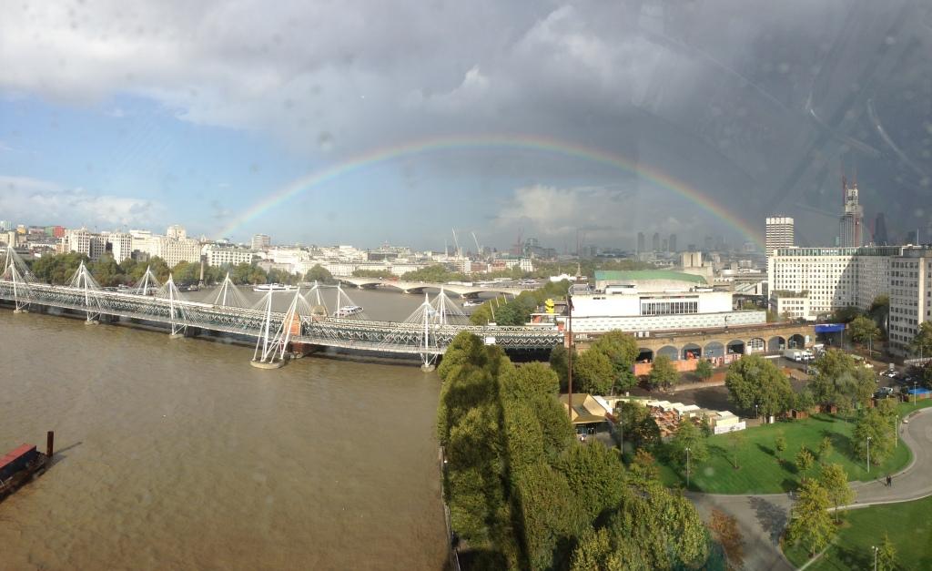 London Eye rainbow