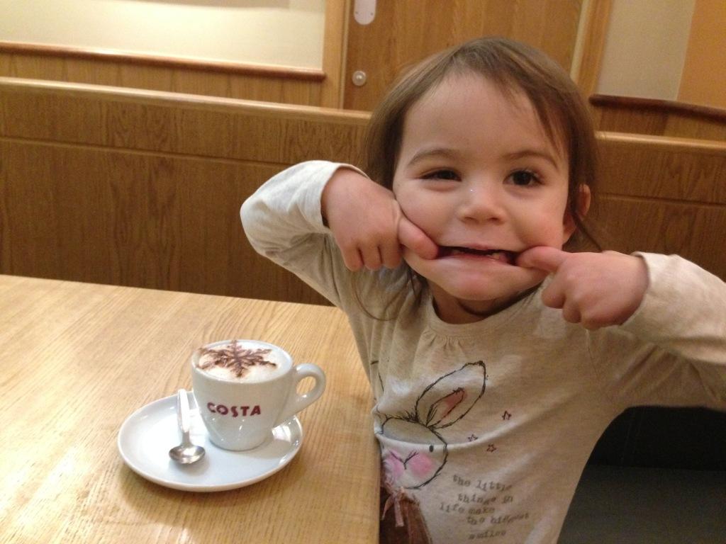 Kara coffee pulling face