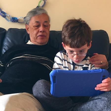 Isaac and Grandpa Hudl