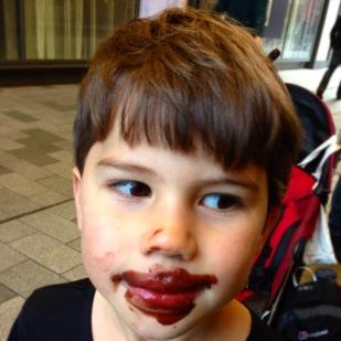 Toby ice cream face