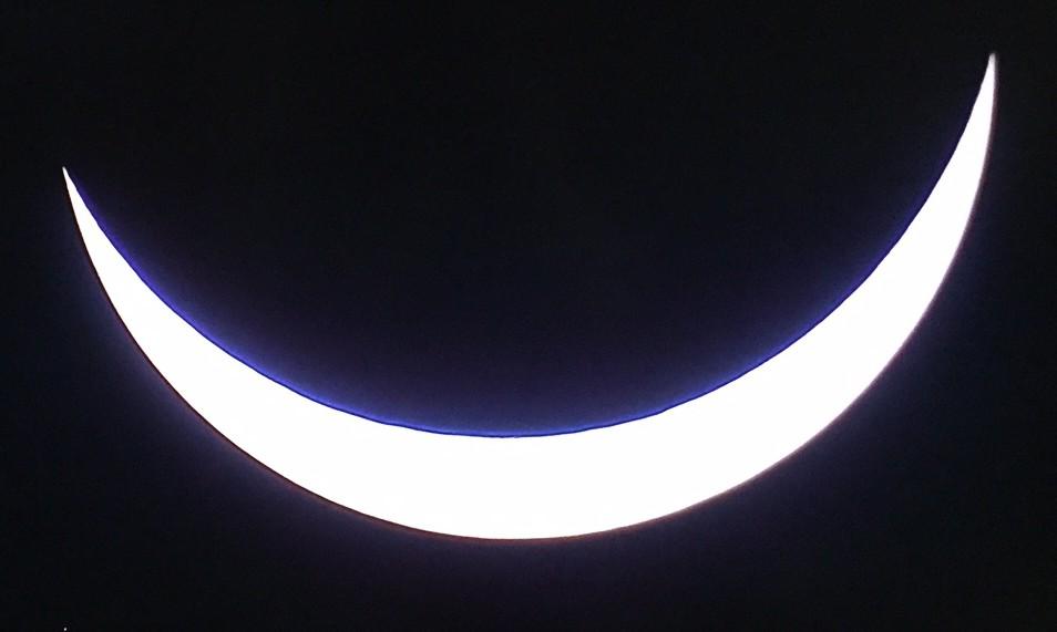 Solar eclipse TV image