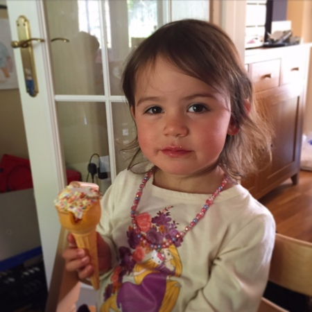 Kara with marshmallow cone
