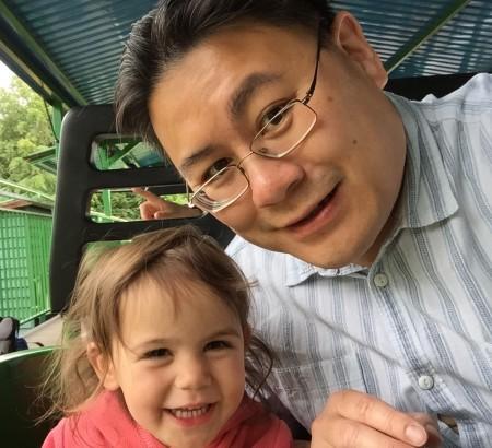 Daddy and Kara rollercoaster Paultons Park