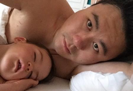Daddy Kara sleeping
