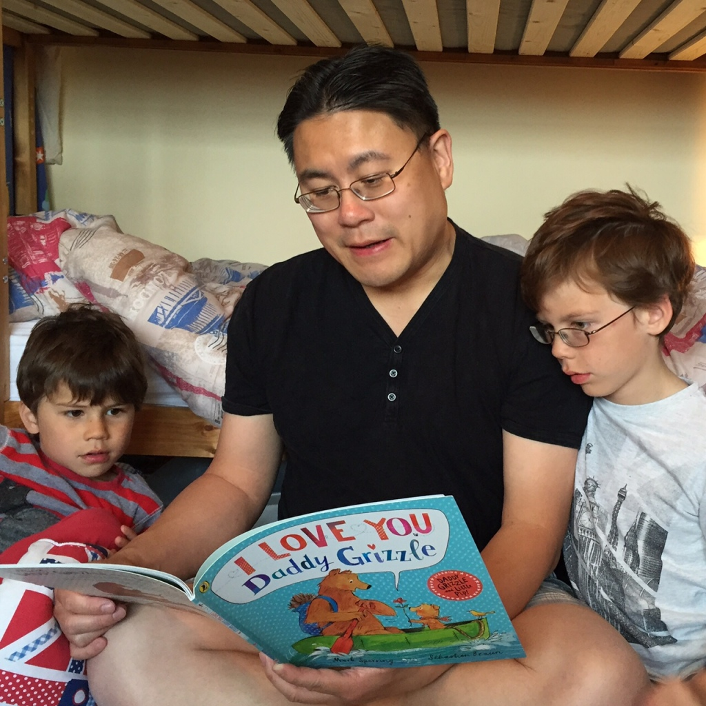 Reading with Isaac and Toby