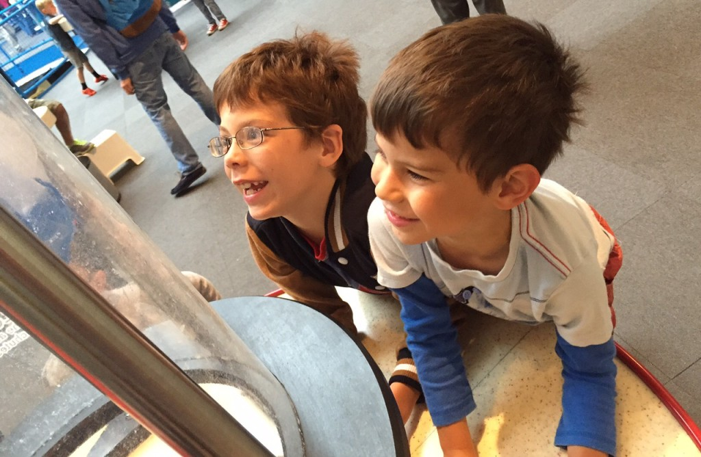 Isaac Toby parachutes Winchester Science Centre