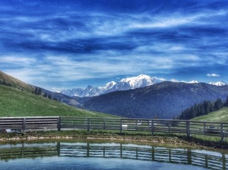 Mont Blanc from Col des Aravis