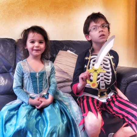 The princess and the skeleton pirate