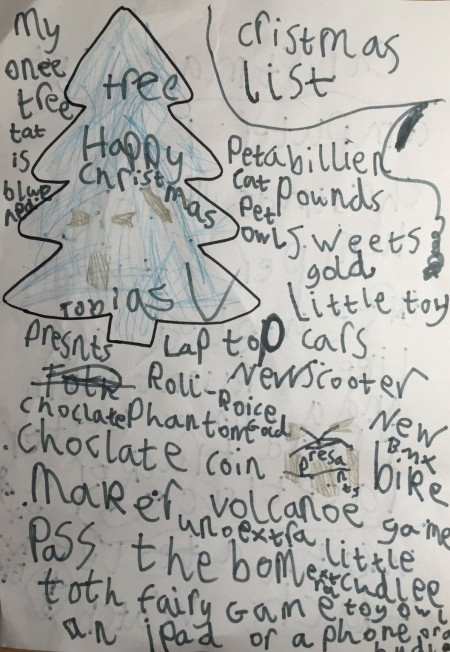 Toby's Christmas list