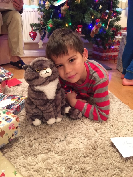 Toby and cat