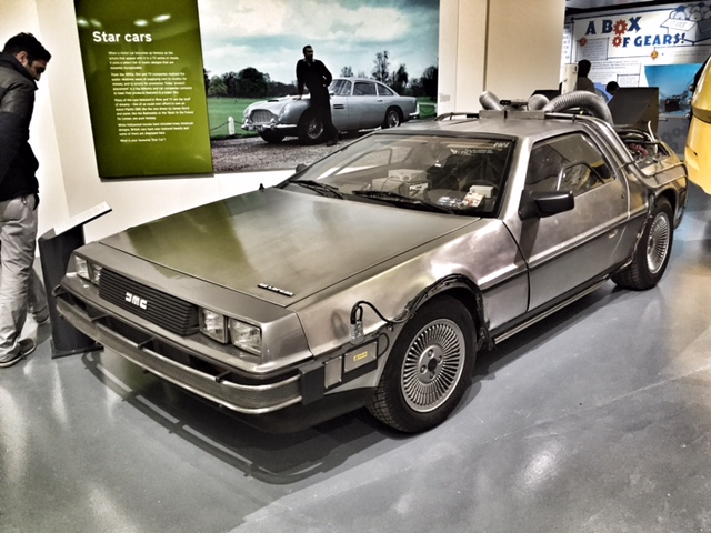 British Motor Museum Back To The Future Delorean Slouching