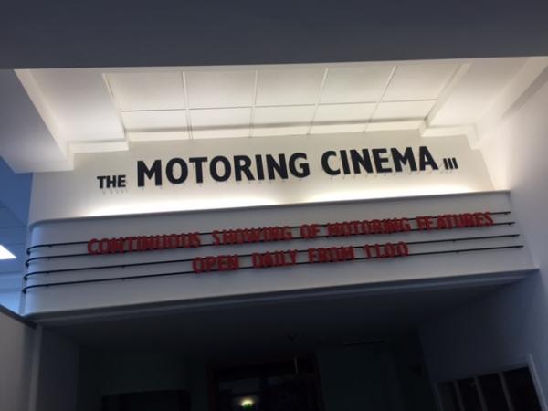 British Motor Museum motoring cinema