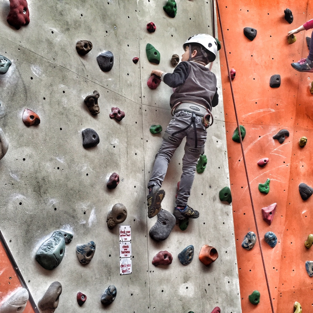 Toby climbing wall
