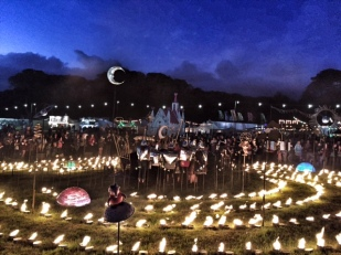 Camp Bestival by night