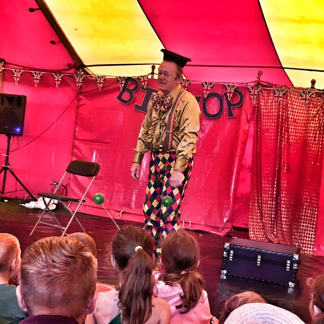 Camp Bestival clown show