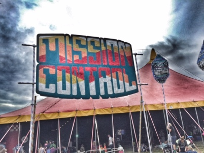 Camp Bestival Mission Control sign