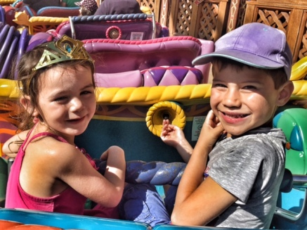 Disneyland Paris Kara Toby magic carpet ride