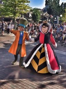 Disneyland Paris parade Mad Hatter Queen of Hearts