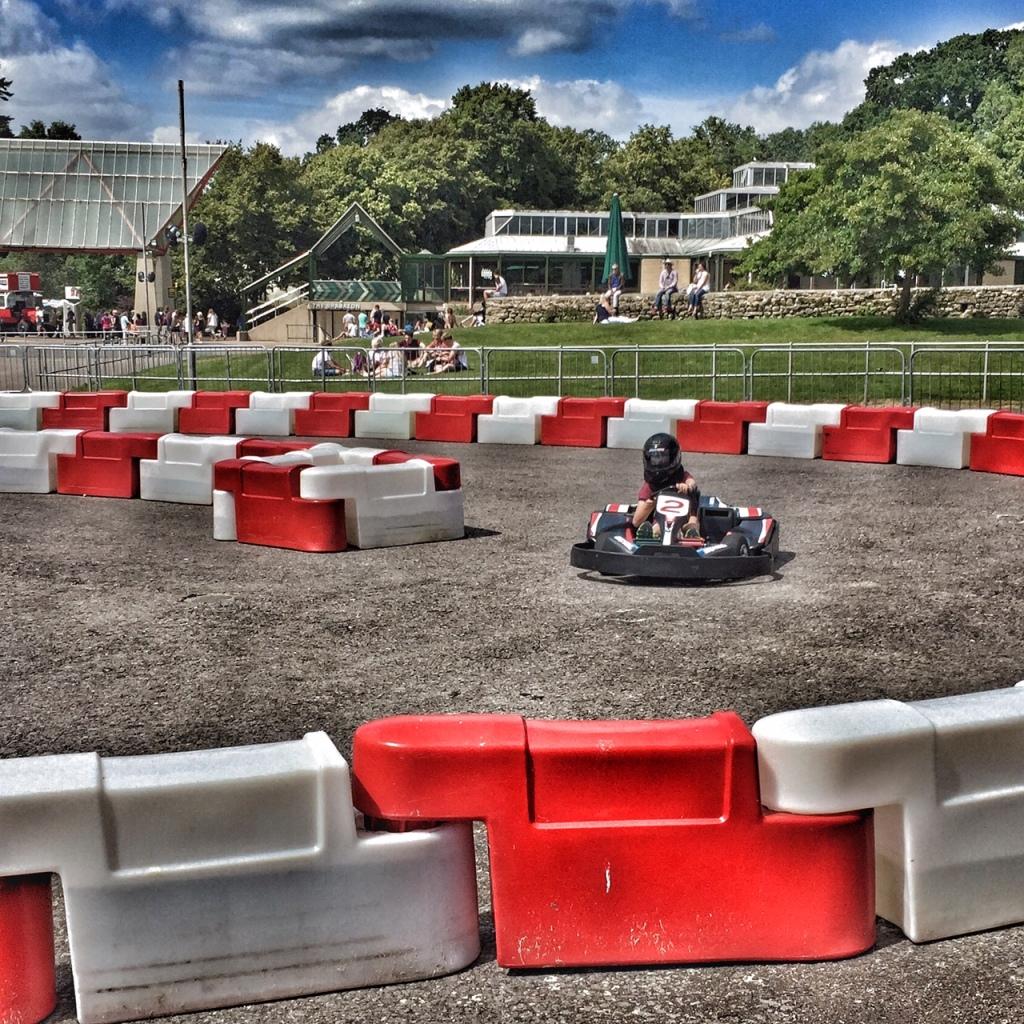 Isaac go-karting at Beaulieu