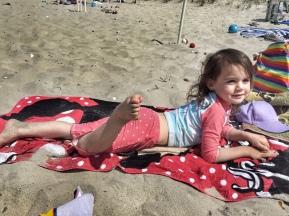 Kara on the beach