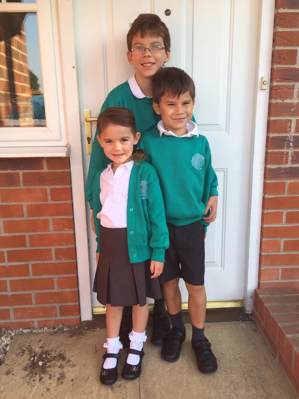 Kara Isaac Toby school uniform