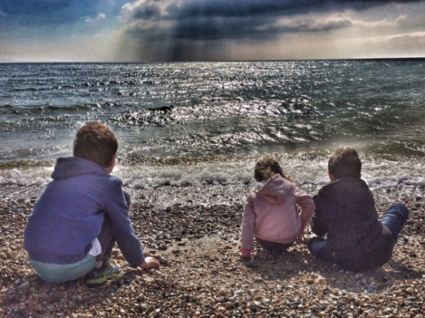Weymouth kids on beach