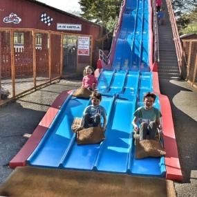 Weymouth kids on slide