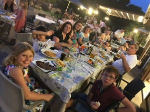Summer holiday 2017 Del Garda Village and Camping Liew Down dinner