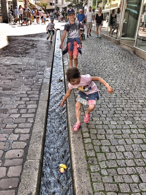 Summer holiday 2017 Freiburg bachle canals