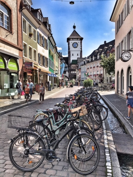 Summer holiday 2017 Freiburg bikes and gate