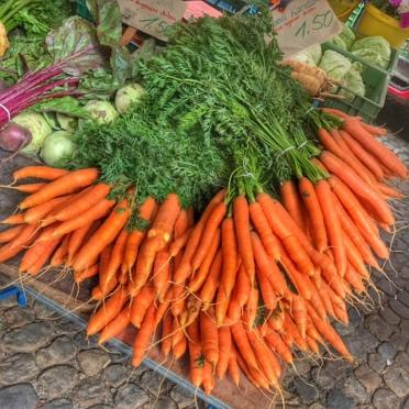 Summer holiday 2017 Freiburg farmers' market carrots
