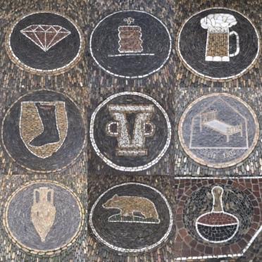 Summer holiday 2017 Freiburg shop pavement mosaics