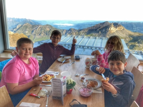 Summer holiday 2017 Piz Gloria kids breakfast