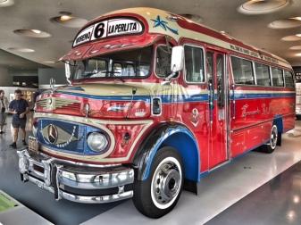 Summer holiday 2017 Stuttgart Mercedes Benz museum bus