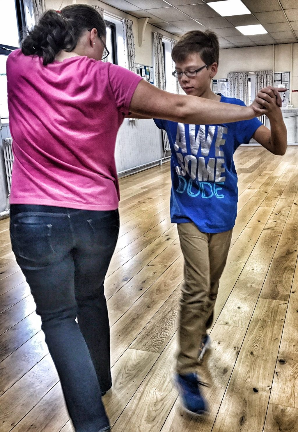 Isaac does his best Strictly Come Dancing